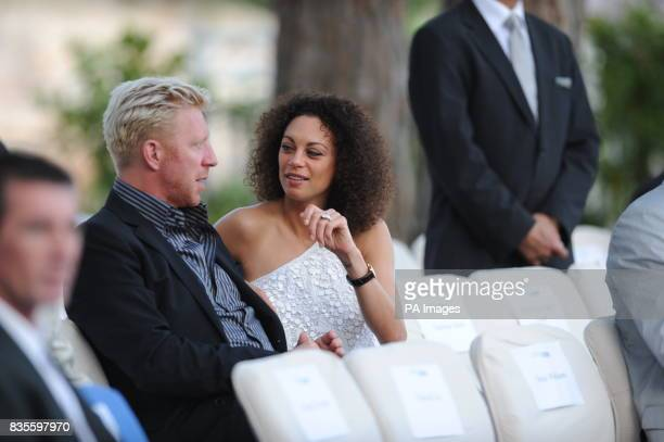 Boris Becker and girlfriend Sharlely Kerssenberg during the Fashion Show at The Amber Lounge Le Meridien Beach Plaza Hotel Monaco