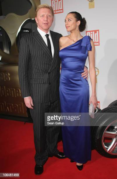 Boris Becker and his wife Lilly Becker attend the 2010 Das Goldene Lenkrad awards at Axel Springer Haus on November 3 2010 in Berlin Germany