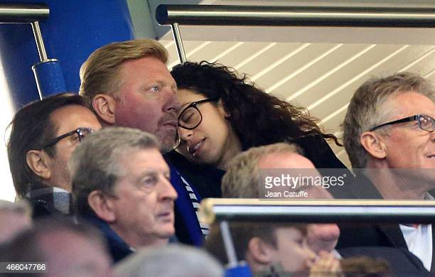 Boris Becker and his wife Lilly Becker attend the UEFA Champions League Round of 16 second leg match between Chelsea FC and Paris SaintGermain FC at...