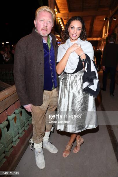 Boris Becker and his wife Lilly Becker during the Oktoberfest at Theresienwiese on September 18 2017 in Munich Germany