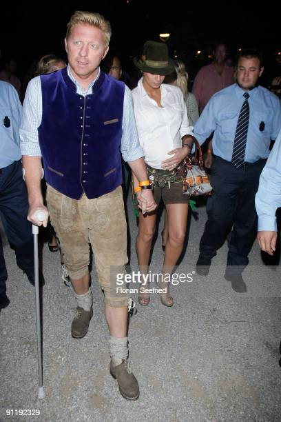 Boris Becker and his wife Sharlely arrive for his 'Oktoberfest Trophy Celebration' at Hippodrom on September 27 2009 in Munich Germany