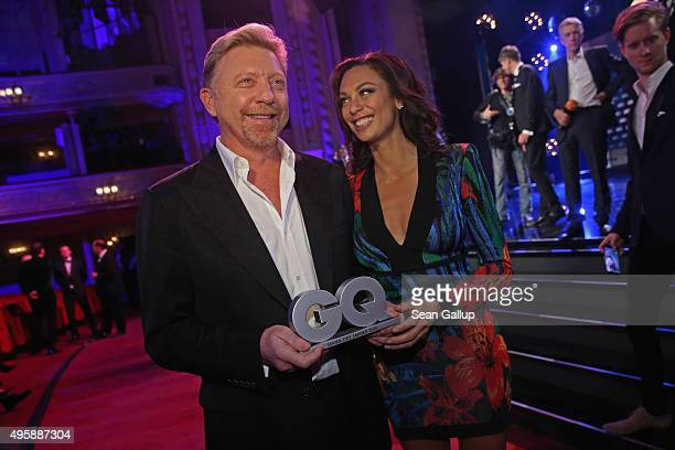 Boris Becker and Lilly Becker are seen on stage at the GQ Men of the year Award 2015 show at Komische Oper on November 5 2015 in Berlin Germany