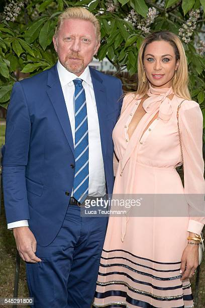 Boris Becker and Lilly Becker arrives for the Serpentine Summer Party at The Serpentine Gallery on July 6 2016 in London England