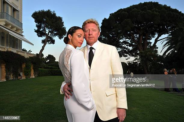 Boris Becker and Lilly Becker attend the 2012 amfAR's Cinema Against AIDS during the 65th Annual Cannes Film Festival at Hotel Du Cap on May 24 2012...