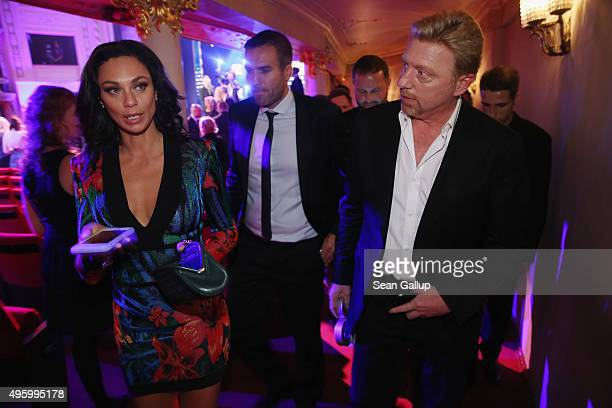 Boris Becker and Lilly Becker attend the GQ Men of the Year Award 2015 show at Komische Oper on November 5 2015 in Berlin Germany