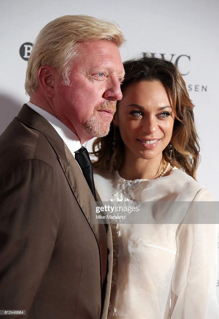 Boris Becker and Lilly Becker attend the IWC Gala Dinner in honour of the British Film Institute at Rosewood Hotel on October 4, 2016 in London, England.