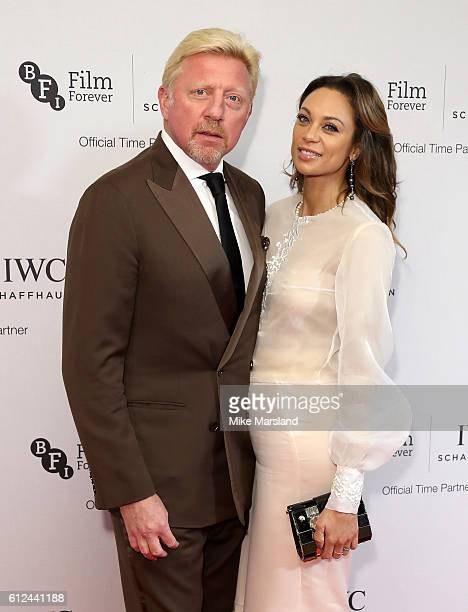 Boris Becker and Lilly Becker attend the IWC Gala Dinner in honour of the British Film Institute at Rosewood Hotel on October 4 2016 in London England