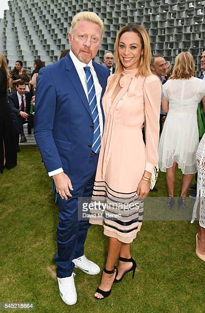Boris Becker and Lilly Becker attend The Serpentine Summer Party cohosted by Tommy Hilfiger on July 6 2016 in London England
