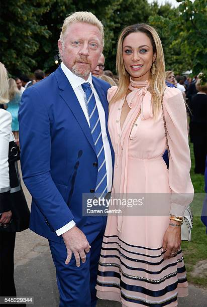 Boris Becker and Lilly Becker attend the Serpentine Summer Party cohosted by Tommy Hilfiger at the Serpentine Gallery on July 6 2016 in London England