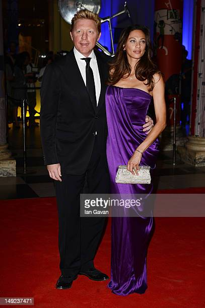 Boris Becker and Lilly Becker attend the Sports For Peace Fundraising Ball at The VA on July 25 2012 in London England