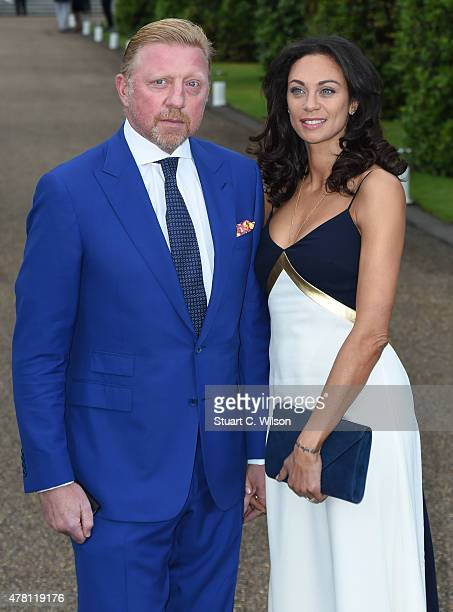 Boris Becker and Lilly Becker attend the Vogue and Ralph Lauren Wimbledon party at The Orangery on June 22 2015 in London England