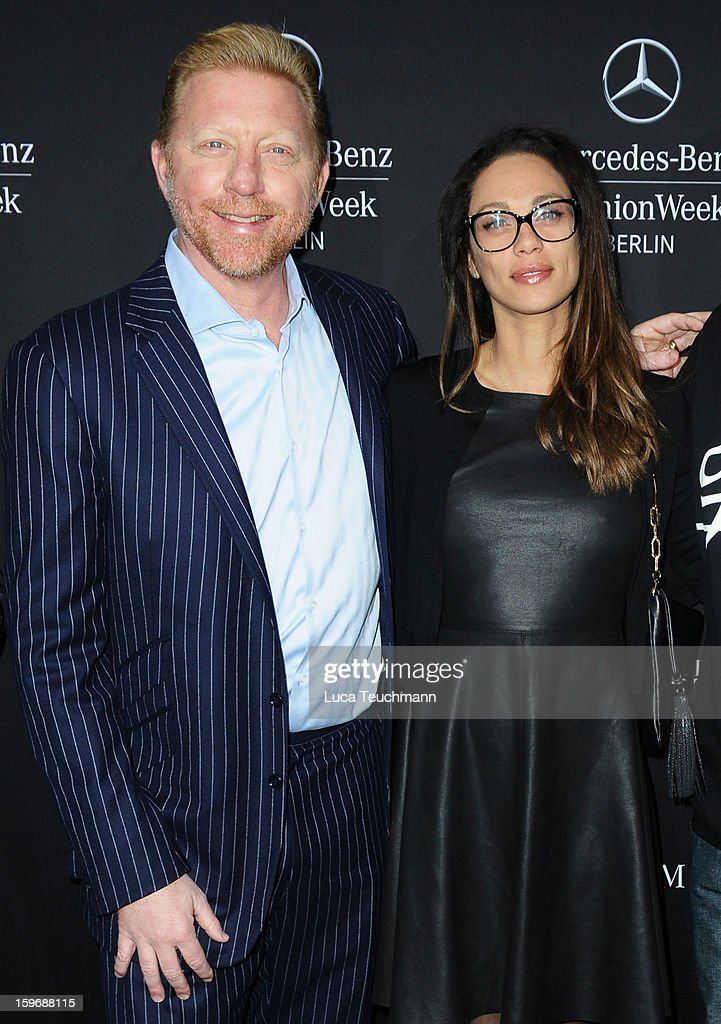 Boris Becker and Lilly Becker attend Zoe Ona Autumn/Winter 2013/14 fashion show during Mercedes-Benz Fashion Week Berlin at Brandenburg Gate on January 18, 2013 in Berlin, Germany.