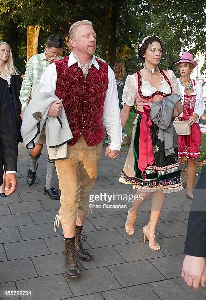 Boris Becker and Lilly Becker sighted during Oktoberfest at Theresienwiese on September 20 2014 in Munich Germany