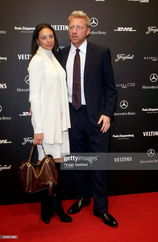 Boris Becker and Lilly Kerssenberg attend the Lala Berlin fashion show during the Mercedes Benz Fashion Week A/W 2009 at Bebelplace on January 29...