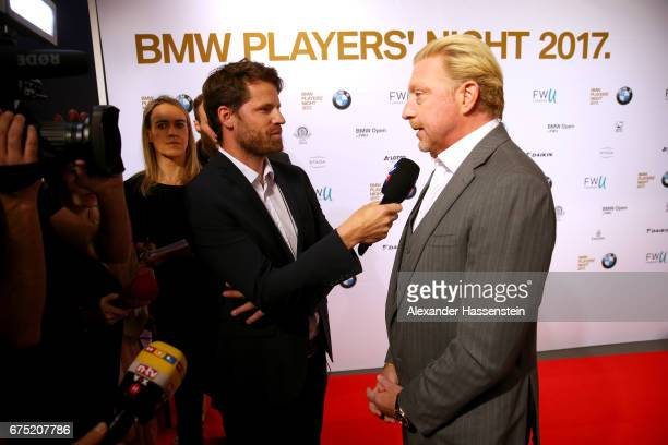 Boris Becker arrives at the Players Night of the 102 BMW Open by FWU at Iphitos tennis club on April 30 2017 in Munich Germany