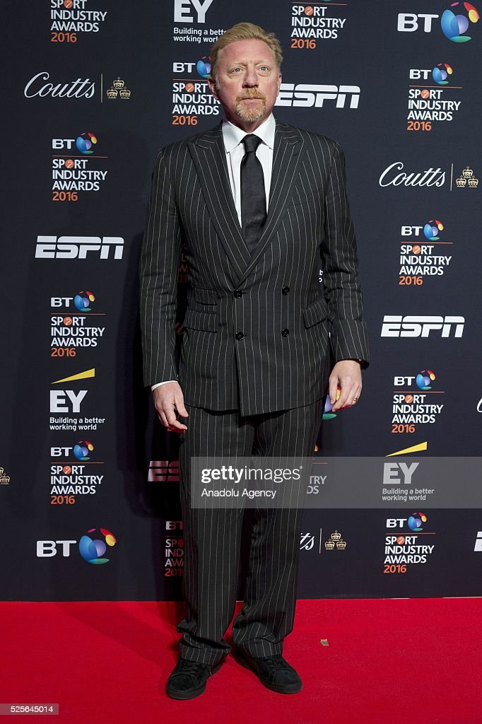 Boris Becker attends the BT Sport Industry Awards 2016 in London, United Kingdom on April 28, 2016.