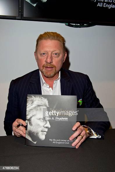 Boris Becker attends the launch of his new book Boris Becker's Wimbledon' on June 10 2015 in London England