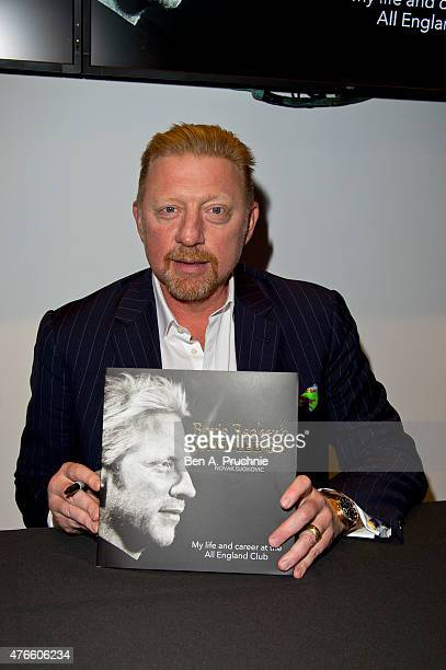 Boris Becker attends the launch of his new book Boris Becker's Wimbledon' on June 10 2015 in London England