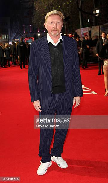 Boris Becker attends the World Premiere of 'I Am Bolt' at Odeon Leicester Square on November 28 2016 in London England