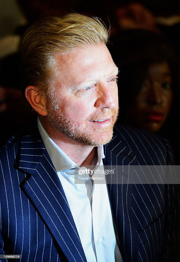<a gi-track='captionPersonalityLinkClicked' href=/galleries/search?phrase=Boris+Becker&family=editorial&specificpeople=67204 ng-click='$event.stopPropagation()'>Boris Becker</a> attends the Zoe Ona Autumn/Winter 2013/14 fashion show during Mercedes-Benz Fashion Week Berlin at Brandenburg Gate on January 18, 2013 in Berlin, Germany.