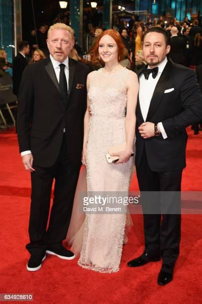 Boris Becker Barbara Meier and Klemens Hallmann attend the 70th EE British Academy Film Awards at Royal Albert Hall on February 12 2017 in London...