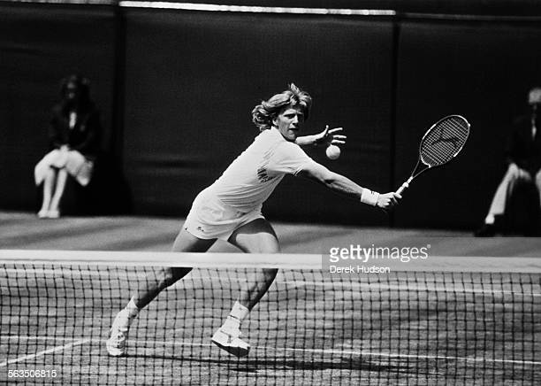Boris Becker beats Ivan Lendl in the Men's Singles semifinals at Wimbledon London 2nd June 1988