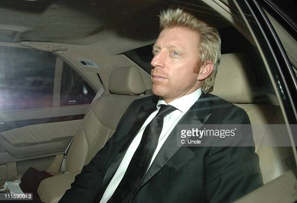 Boris Becker during Sir Elton John and David Furnish's Civil Partnership Ceremony Reception Arrivals at Windsor in Windsor Great Britain