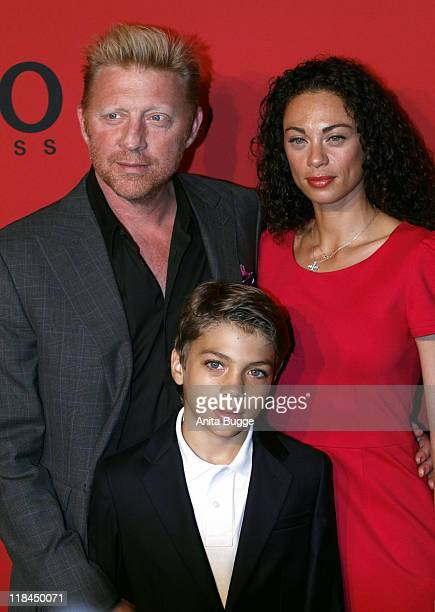 Boris Becker Elias Becker and Lilly Becker attend the Hugo Show during MercedesBenz Fashion Week Berlin Spring/Summer 2012 at the Forum Museumsinsel...