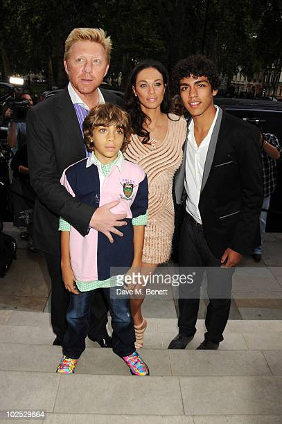 Boris Becker Elias Becker Sharlely Becker and Noah Becker attend Boris Becker's birthday party at Mortons on June 29 2010 in London England