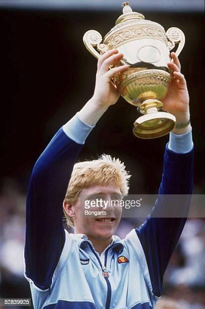 TENNIS WIMBLEDON 1986 Boris BECKER Jubel /SIEGER
