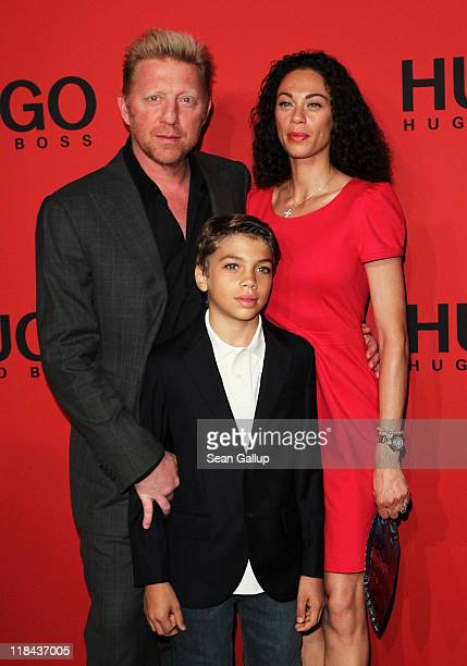 Boris Becker Lilly Becker and son Elias attend the Hugo Show during MercedesBenz Fashion Week Berlin Spring/Summer 2012 at the Forum Museumsinsel on...