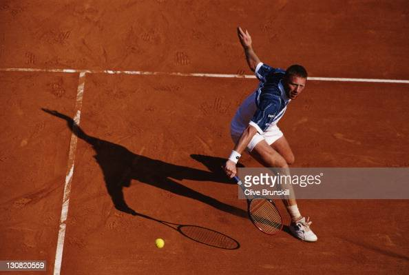 Boris Becker of Germany during his match against Thomas Muster in the final of the ATP Monte Carlo Open on 1st May 1995 at the Monte Carlo Country...