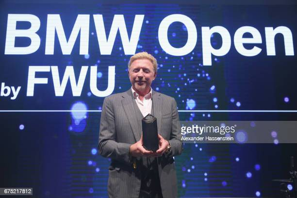 Boris Becker receives the Iphitos Award 2017 at the Players Night of the 102 BMW Open by FWU at Iphitos tennis club on April 30 2017 in Munich Germany