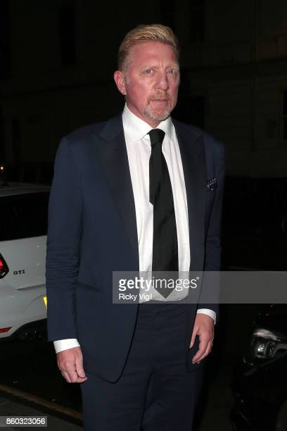 Boris Becker seen attending International Day of the Girl Gala at Albert's on October 11 2017 in London England