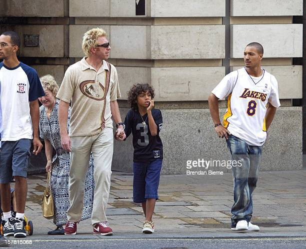 Boris Becker Shopping In London'S West End With His Mother Elvira And Children Noah Elias They Visited Hamleys Toystore Lillywhites Sportstore And...