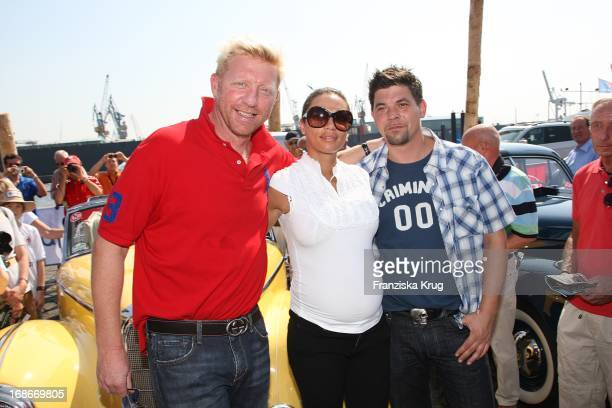 Boris Becker wife Lilly 'Sharlely' and Tim Mälzer at the prologue of The classic car rally 'Hamburg Berlinl' at the fish market in Hamburg