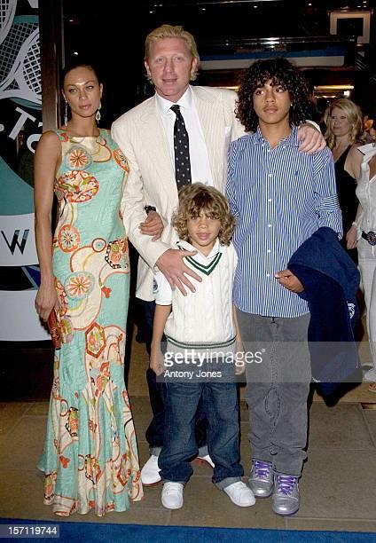 Boris Becker With Partner Lily His Children Noah Elias Attend The Ralph Lauren Wimbledon Party In London