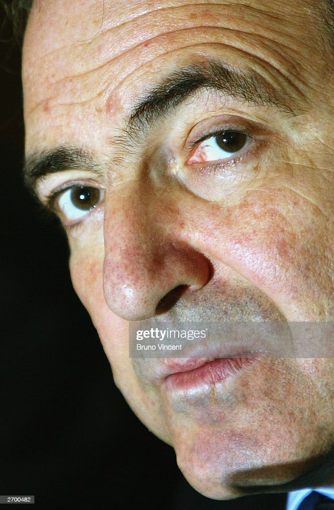 Boris Berezovsky is seen at a press conference after the extradition proceedings against Yuli Dubov were dropped at the Westbury Hotel October 7, 2003 in London. Boris Berezovsky and business associate Yuli Dubov, both wanted in Moscow on alleged charges of fraud, have been granted political asylum in Britain and will not be extradited to Russia to face trial.