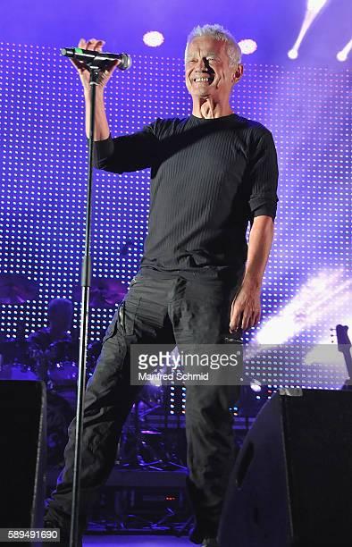 Boris Bukowski performs on stage during the Hafen Open Air Festival on August 13 2016 in Vienna Austria