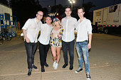 Boris Daenen Michael Schack Netsky and Script MC attend the 2016 Panorama NYC Festival Day 1 at Randall's Island on July 22 2016 in New York City
