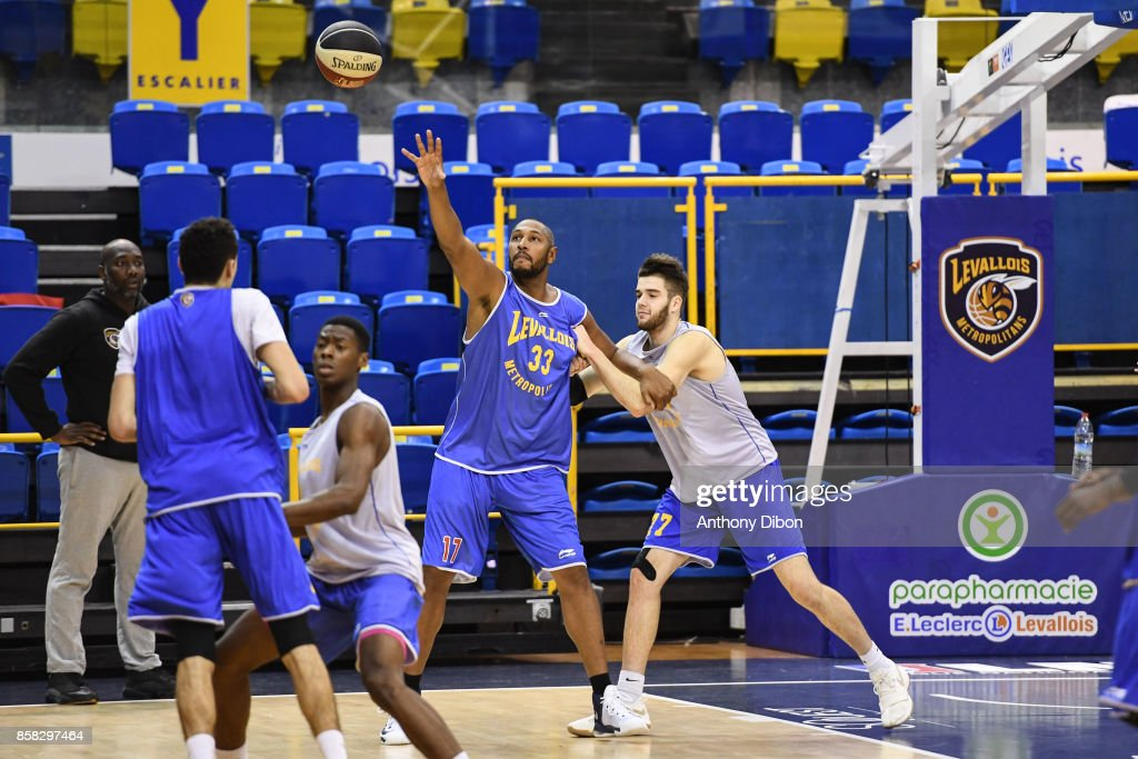 Boris Diaw during training session of Levallois Metropolitans on October 6, 2017 in Levallois-Perret, France.