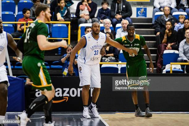 Boris Diaw of Levallois and Josh Carter of Limoges during the Pro A match between Levallois and Limoges on October 7 2017 in LevalloisPerret France