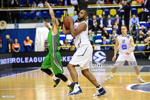 Boris Diaw of Levallois and Scottie Wilbekin of Darussafaka Dogus Istabul during the EuropCup match between Levallois Metropolitans and Darussafaka...
