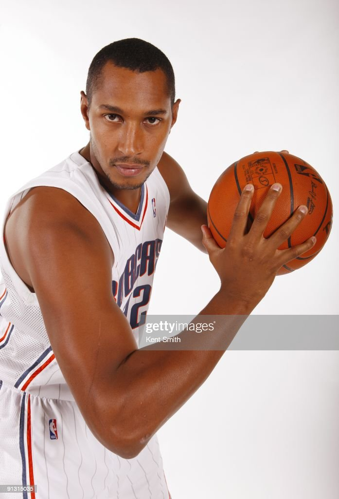 <a gi-track='captionPersonalityLinkClicked' href=/galleries/search?phrase=Boris+Diaw&family=editorial&specificpeople=201505 ng-click='$event.stopPropagation()'>Boris Diaw</a> #32 of the Charlotte Bobcats poses for a portrait during 2009 NBA Media Day at Time Warner Cable Arena on September 28, 2009 in Charlotte, North Carolina.