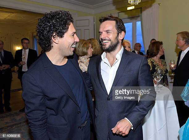 Boris Entrup and Steffen Henssler attend the 'Heldenherz Kinderschutzpreis' at Hotel Louis C Jacob on October 11 2016 in Hamburg Germany