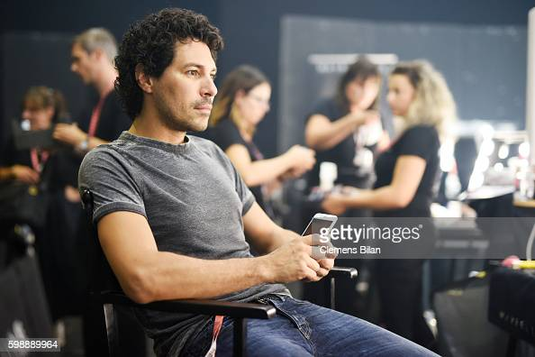 Boris Entrup is seen backstage ahead of the Hugo fashion show during the Bread Butter by Zalando at arena Berlin on September 3 2016 in Berlin Germany