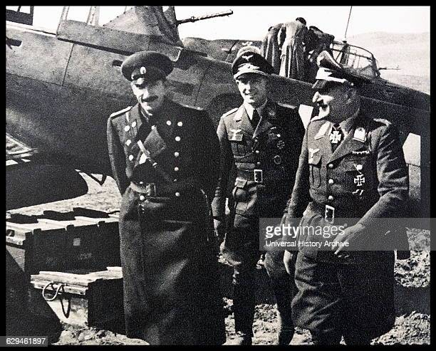 Boris III Tsar of Bulgaria Is seen to be taking interested in the German Luftwaffe Dated 1940