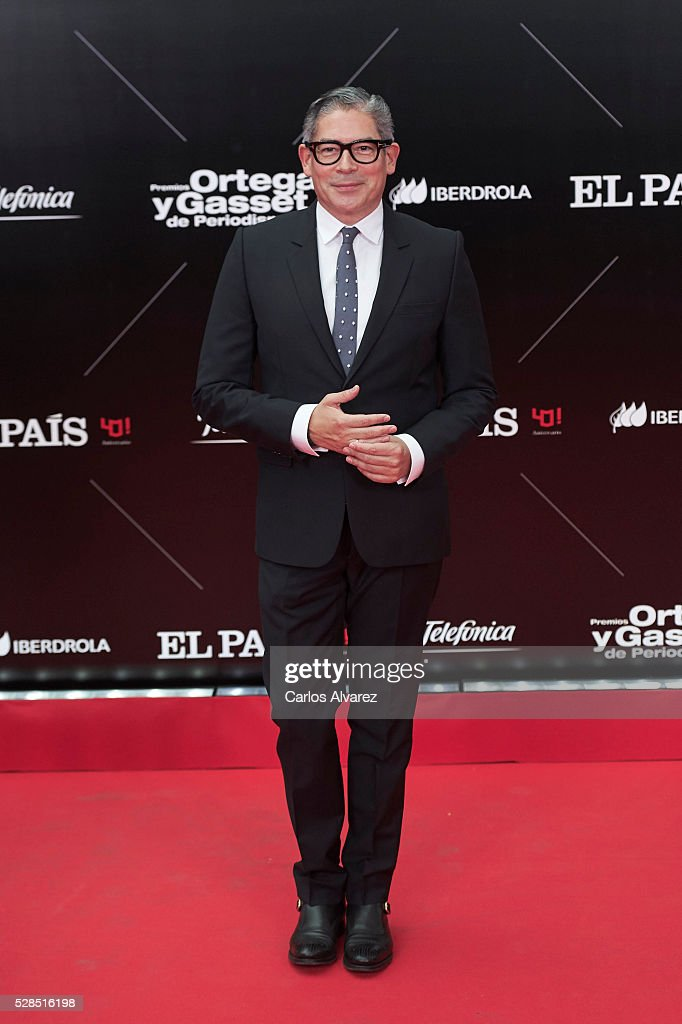 Boris Izaguirre attends 'Ortega Y Gasset' journalism awards 2016 at Palacio de Cibeles on May 05, 2016 in Madrid, Spain.