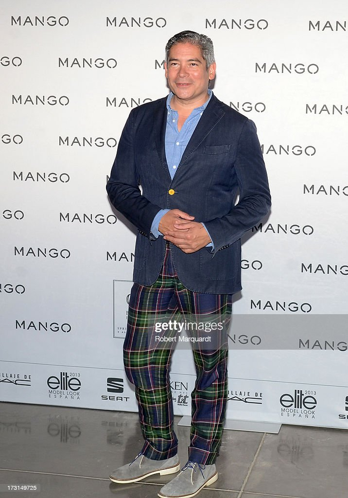 Boris Izaguirre attends the MANGO fashion show during the 080 Barcelona Fashion week 2014 held at the Disseny Hub Barcelona on July 8, 2013 in Barcelona, Spain.
