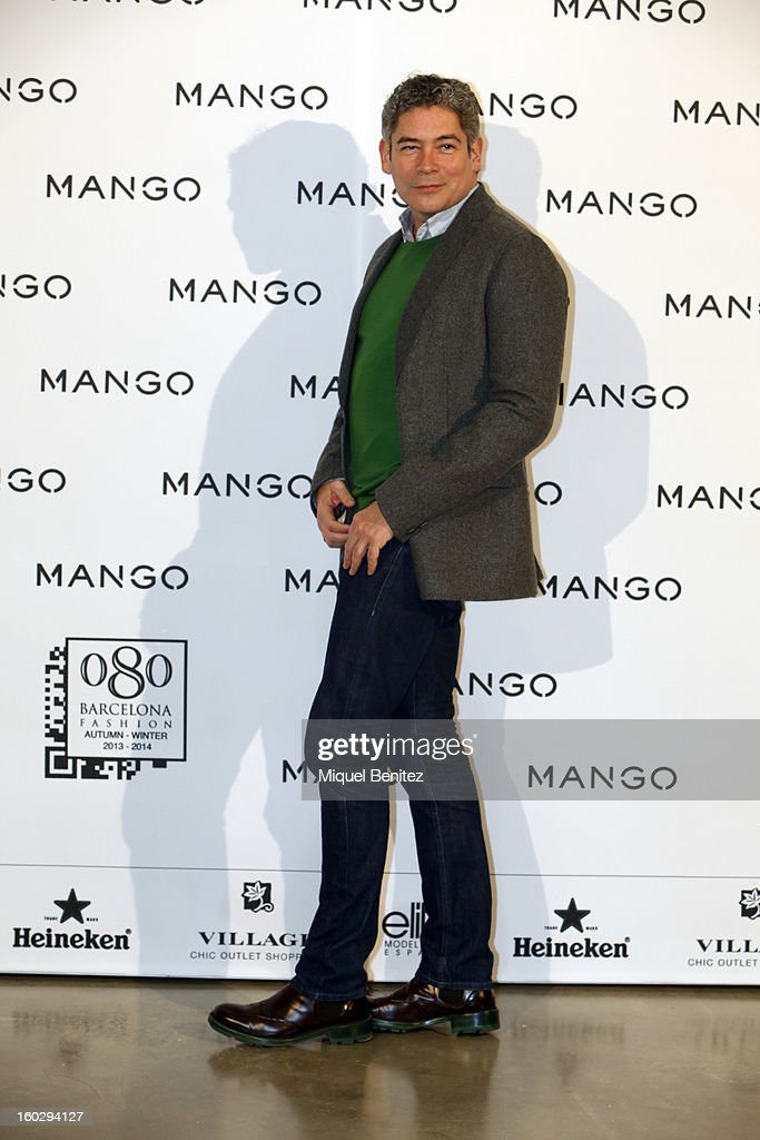 Boris Izaguirre attends the photocall at the Mango fashion show as part of the 080 Barcelona Fashion Week Autumn/Winter 2013-2014 on January 28, 2013 in Barcelona, Spain.